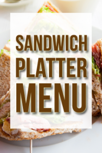 sandwich platter menu